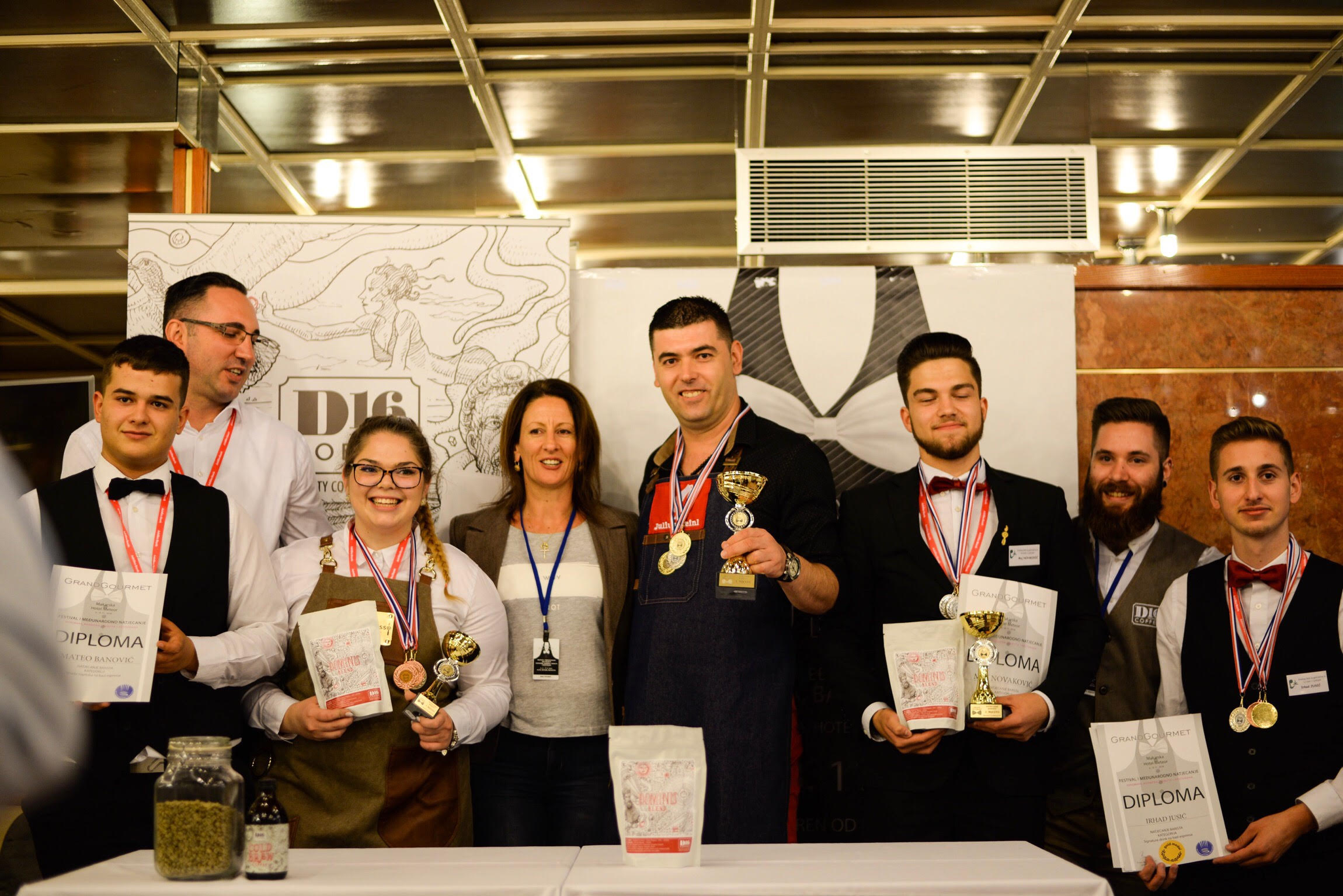 D16 Coffee as Specialty Coffee Sponsor at Grand Gourmet 2018